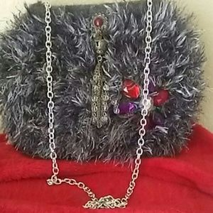 Handbags - 🎁FUR BAG GEMSTONES  NWT